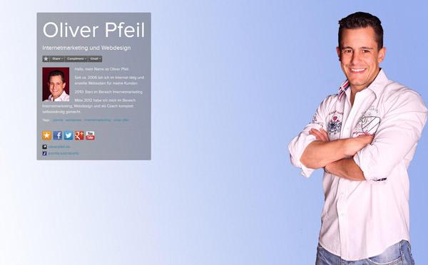 Das Profil von Oliver Pfeil auf about.me