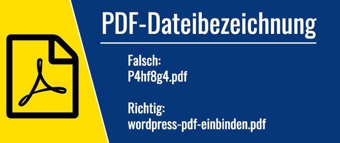 WordPress PDF Dateibezeichnung