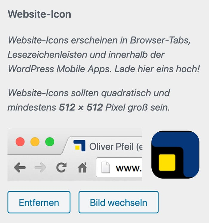WordPress Favicon ändern