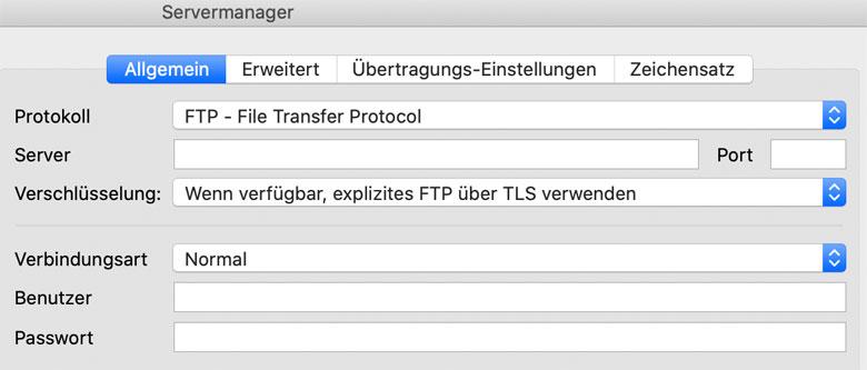FTP-Verbindung herstellen