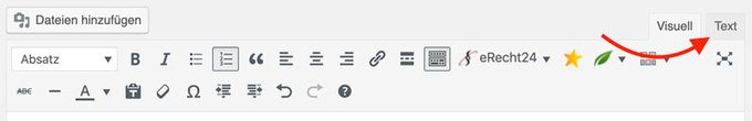 WordPress HTML bearbeiten
