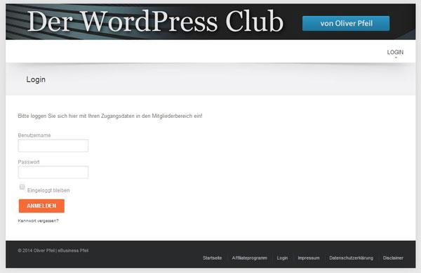 Mitgliederbereich mit WordPress erstellen