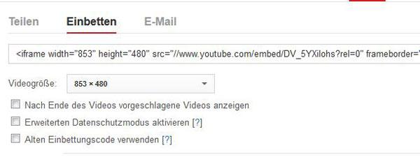 YouTube Einbettungscode