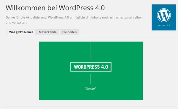 WordPress-Version 4.0