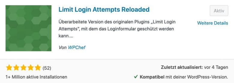 WordPress Sicherheit Plugin