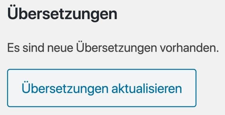 WordPress auf Deutsch umstellen