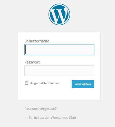WordPress-Passwort vergessen