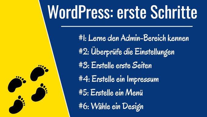 erste Schritte in WordPress