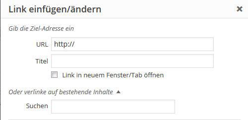 Link in WordPress einfügen