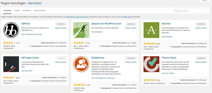 Auf diese Weise kannst Du ein neues WordPress-Plugin installieren.