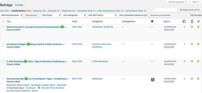 So kannst du einen bestehenden WordPress Beitrag bearbeiten.
