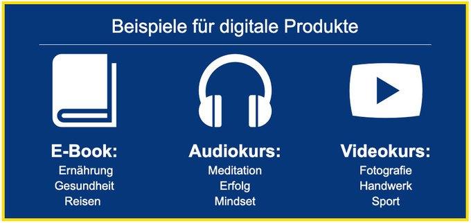 digitale Produkte- Beispiele & Ideen