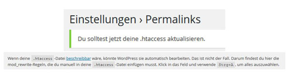 WordPress Permalink-Einstellungen