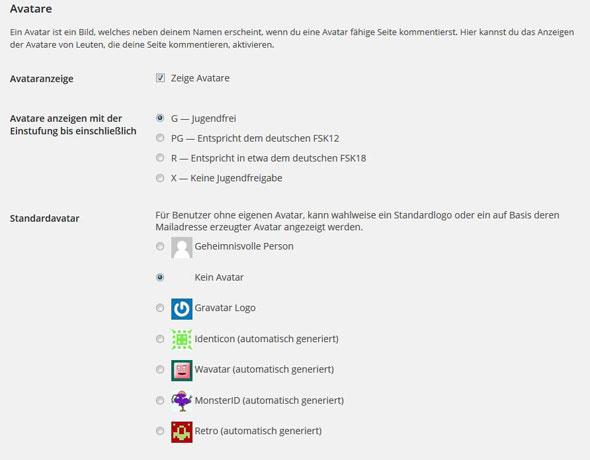 Avatar mit WordPress erstellen