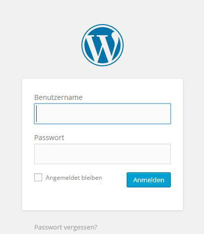WordPress Admin Login zum Dashboard