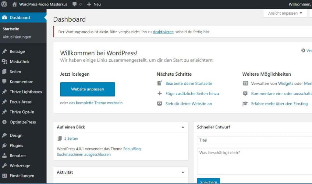 WordPress-Backend: Anleitung in Deutsch (PDF)