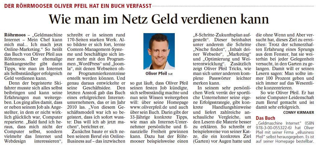Zeitungsausschnitt aus der Münchner Merkur