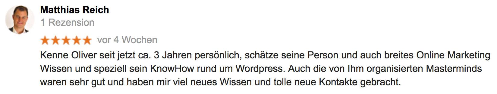 Kundenrezension von Matthias Reich