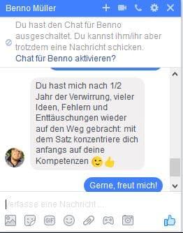 Feedback von Benno Müller
