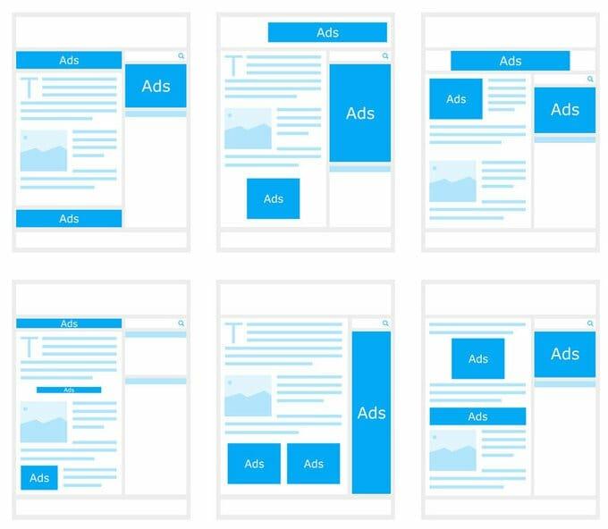 Beispiele, wie du Google Adsense auf deiner Website einbinden kannst.