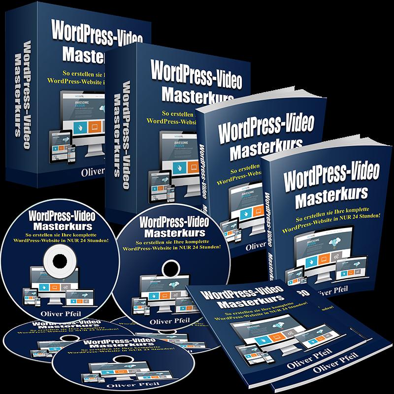 WordPress Videokurs - komplette Videoausbildung zur Erstellung einer Website