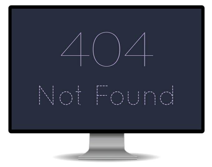 Error 404 - Page not found: Fehler beheben und Weiterleitung einrichten.