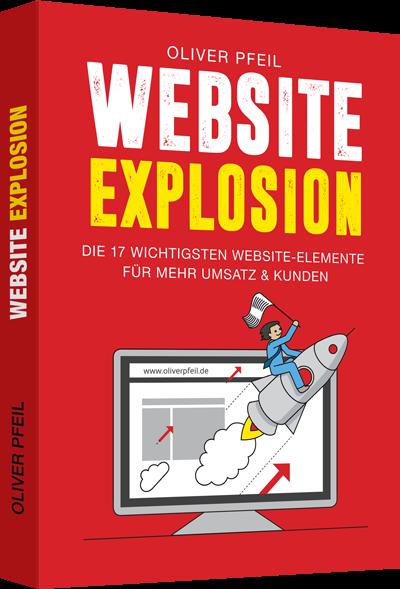 """Buch """"Website Explosion"""" von Oliver Pfeil"""