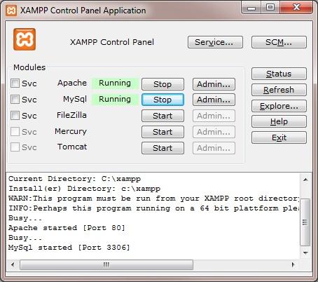 XAMPP Control Panel: Joomla & XAMPP installieren