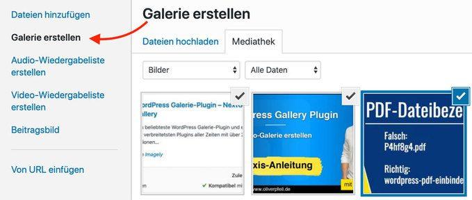 WordPress Bildergalerie erstellen
