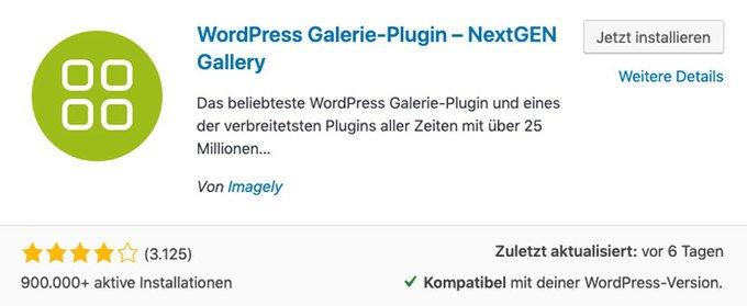 WordPress Bildergalerie mit NextGEN Gallery erstellen