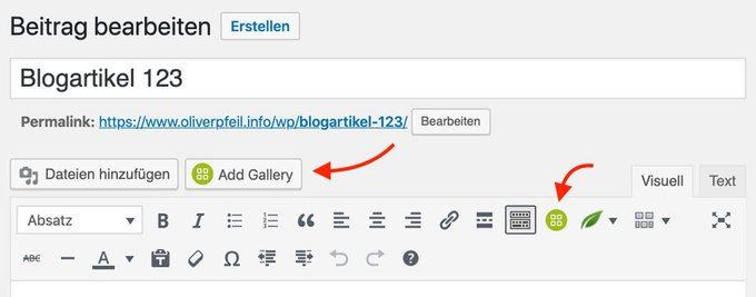 WordPress Galerie NextGEN mit Gutenberg einbinden