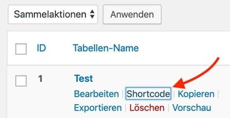WordPress Tabellen Plugin einfügen