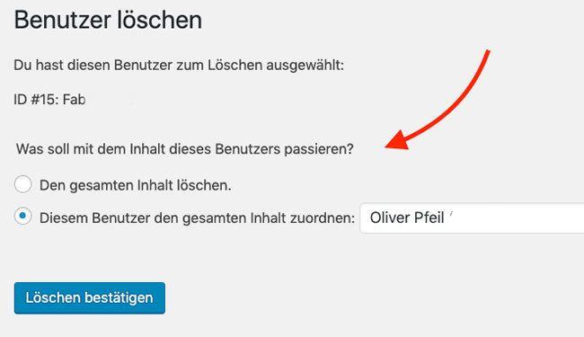 Einen Benutzer (User) endgültig löschen