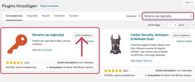 WordPress Backend URL ändern