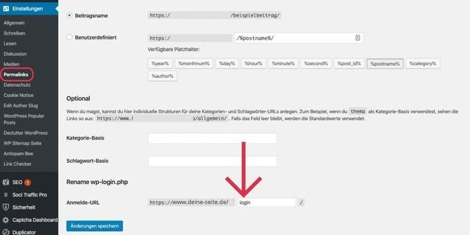 WordPress Plugin - Backend URL