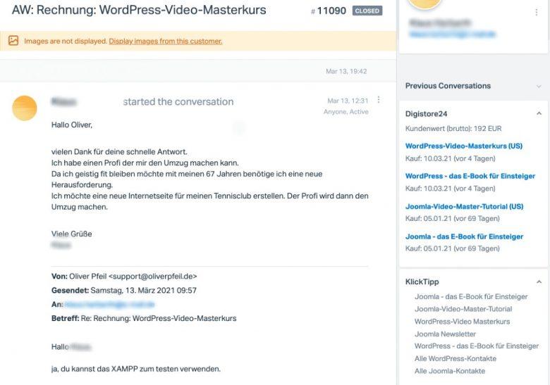 HelpScout mit Digistore24 und KlickTipp verbinden