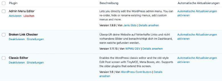 WordPress Plugins automatisch aktualisieren