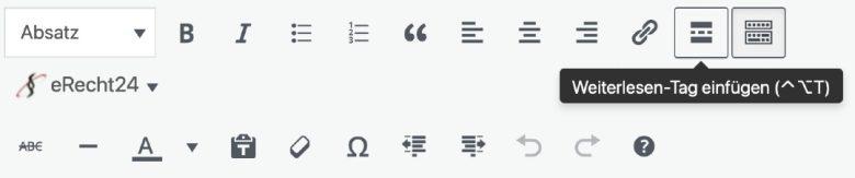 WordPress Weiterlesen Button einfügen
